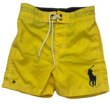 Brand New Baby Boys Genuine Ralph Lauren swimming Swim shorts 6-9m 9m Yellow