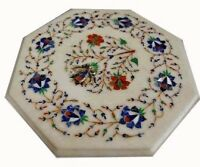 Side end Marble Table Top marquetry inlay work handmade art