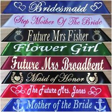 Bridal, Wedding, Hen's Night, Customised/Personalised Party Sash - Any Wording