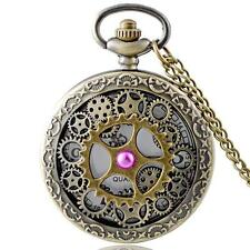 Steampunk Gear Watch Antique style Necklace & Chain #PW07