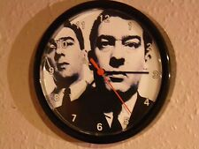 """KRAY TWINS  A QUARTZ WALL CLOCK 8.5 """" inch    PASS THE TIME WITH THE TWINS!"""