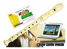Voggenreiter Flute Master App mit Blockflöte Barock, Kunststoff Wischtuch Tasche