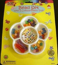 Child's beginner beading kit alphabet beads, shapes, lanyard vinyl cord kit006