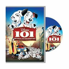 101 DALMATIANS DISNEY DVD English Greek Language PAL REGION-2 New