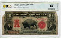 1901 Fr122 $10 U.S. Legal Tender BISON Large Size Currency Note PCGS VG-10 1995
