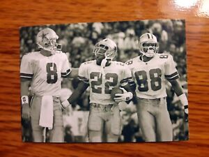 Emmitt Smith Troy Aikman Michael Irvin Cowboys Big 3 4x6 Game Photo Picture Card