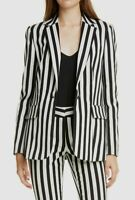 $950 Frame Women's Black White Classic Striped One-Button Jacket Blazer Size 4