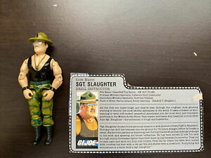 Vintage GI Joe ARAH Action Figure Sgt. Slaughter 1986