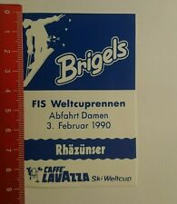 Aufkleber/Sticker: Brigels Café Lavazza Ski Weltcup 1990 (060816135)
