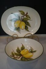 Lemon Tree By Josef Handpainted Lemons Dinnerware Serving Pieces Bowl Platter