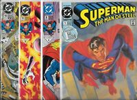 Superman: The Man of Steel  #1, #8, #11 & #18   Lot of 4 (1991/1992, DC Comics)