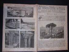 1900 MONREALE Le Cento Città d'Italia Sonzogno Editore riccamente illustrato