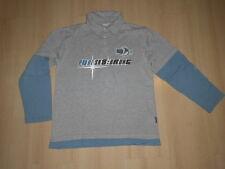 Sweat-Shirt@LA-Shirt Skater@Gr. 152/158@2-in-1 Polo-Shirt@blau & grau@PURE SKATE