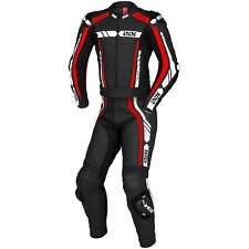 IXS rs-800 1.0 señores Sport fetichistas cuero combinado STD/lang-negro rojo blanco