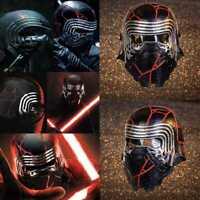 Kylo Ren Mask Star Wars Cosplay Costume LED Light Prop Battle Damage Helmet Hard