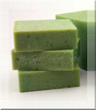 Jasmine Lime Scrub w Sea Salt Natural Soap Bar Olive Oil Shea Butter One Large