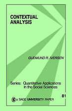 CONTEXTUAL ANALYSIS (Quantitative Applications in the Social Sciences), IVERSEN,