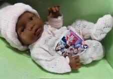 "Berenguer Mini La Newborn Doll 9.5""  African-American Girl  Anatomically Correct"