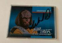 Michael Dorn Worf STAR TREK Impel 1992 Autograph Card #007