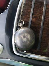 Silver case  Waltham Wm Ellery Pocket Watch Size 18s Key Wind Hunter Case presen
