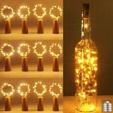 20x 20 LED Flaschenlicht Lichterkette korken LED Nacht Licht Hochzeit Party Deko