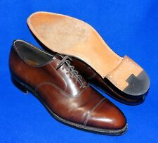 12 B USA ARISTOCRAFT JOHNSTON MURPHY MAHOGANY BROWN CAP TO OXFORD MENS SHOE