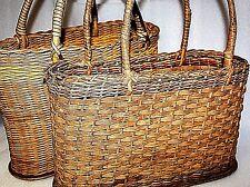 vintage baskets vintage shopping baskets vintage wicker shopping basket x2