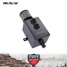 Proflow 2lt Stealth Black Oil Catch Can Tank with Breather & Drain Tap 2l New