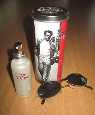 JAMES DEAN REBEL COLOGNE For WOMEN 1.8 FL OZ In Tin Box With Sunglasses PERFUME