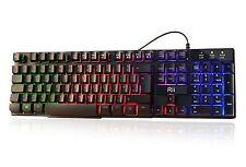 Gaming Keyboard Mechanical Like Light Up Led Backlit Key Switch Wired USB RGB PC