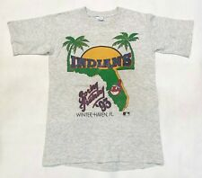 Vintage Salem 1993 MLB Cleveland Indians T-Shirt Gray S Tee USA