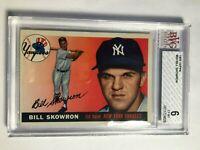 1955 Topps #22 Bill Moose Skowron BVG 6 EX-MT New York Yankees PSA Fresh Graded