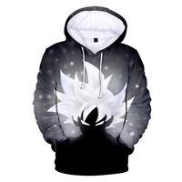 Anime Dragon Ball Top 3D Print Goku Hoodie Sweatshirt Pullover Cotton Printed