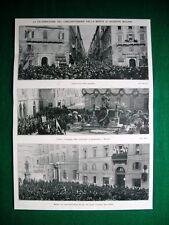 Nel 1922 cinquantenario morte Mazzini Genova Torino Meazzi Zanella A. Prodam