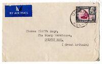 Kenya Uganda and Tanganyika KGV 50c Airmail Cover Postal History X8167