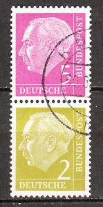 BRD 1955 Zd- Mi. Nr. S 19 179+177 Zusammendruck Gestempelt (7441)