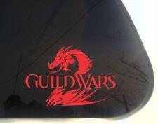 Guild Wars 2 - die cut decal/sticker NOT PRINTED dragon Tyria Destiny's Edge
