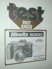 TEST PHOT ARGUS  MINOLTA  5000  en francais photo photographie