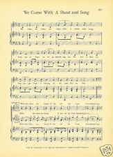 "ALPHA DELTA PHI Fraternity Song Sheet c1941 ""We Come with a Shout and Song"""