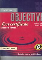 OBJECTIVE FIRST 2ED STD di Annette Capel Wendy Sharp - 2008