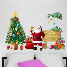 Christmas Wall Sticker Xmas Tree Santa Claus Door Glass Decal Removable Decor