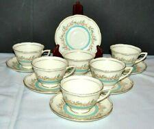 "6 Beautiful  Royal Doulton ""Prelude"" V2222, Tea Cups & Saucers"