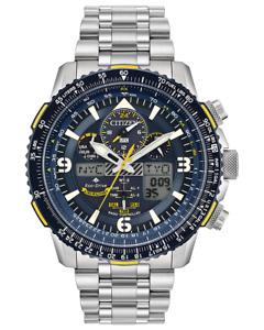 Citizen ProMaster Skyhawk AT Eco Drive ST Steel Blue Dial Men's Watch JY8078-52L