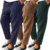 Hommes Pantalon en velours côtelé serrage à la élastique Pantalon décontracté