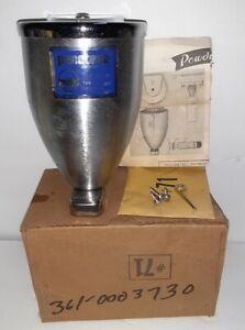 NOS Vintage Penetone Powdurn Model 71 Stainless Steel Powder Soap Dispenser