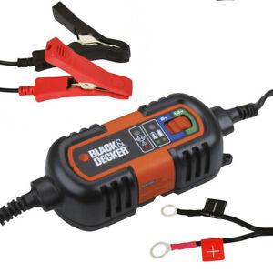 Caricabatterie Mantenitore Carica Batteria Auto Moto 6/12V Portatile con Cavi