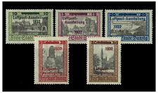 Danzig 1932 Air Post Exhibition Opt Set/5 Stamps Mi.231/5 (Sc.C31/5) MLH 4-14