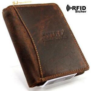 RFID Schutz Echt Leder Herren Portemonnaie Brieftasche,Geldbörse,Wallet SJ-00114