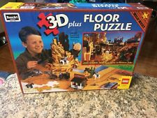 "LEGO Western 3D Plus Floor Puzzle (Rose Art 1997) 150 pcs, 36"" x 24"" 08098"