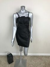 Express Woman Mini Dress Party Ruched Fitted Strap/Strapless Stretch Black Sz 12